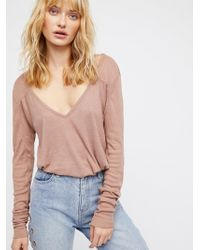 Free People - Clothes Bodysuits Rock The Boat Long Sleeve - Lyst