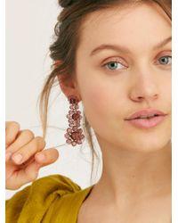 Free People - Glisten Beaded Earrings - Lyst