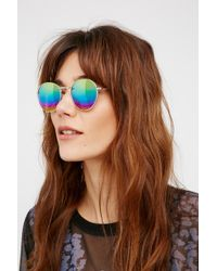 Free People - Far Out Round Sunglasses - Lyst