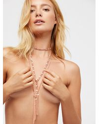 Free People - Chain Wrap Scarf Necklace - Lyst