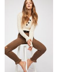 Free People - Great Heights Frayed Skinny Jeans By We The Free - Lyst