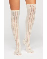Free People - Woodland Pointelle Over The Knee Socks By Memoi - Lyst