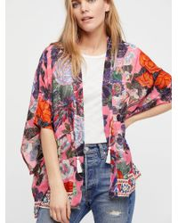 Free People - Enchanted Blooms Printed Kimono - Lyst