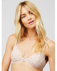 Free People - Front Strap Triangle Bra - Lyst