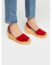 Free People - Britney Cork Wedge - Lyst