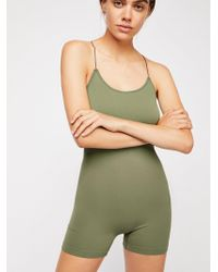 ad9eacb9db6 Free People - Low Back Seamless Playsuit - Lyst