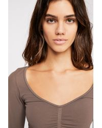 Free People - Ruched Front Long Sleeve By Intimately - Lyst