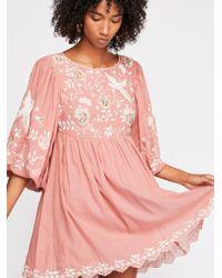 Free People - Bridget Babydoll Mini Dress - Lyst