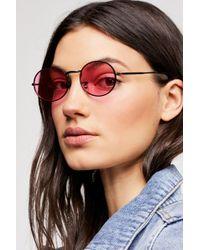 Free People - '90s Kid Oval Sunglasses - Lyst
