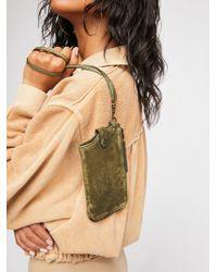 Free People - Leather Iphone Wallet Crossbody - Lyst