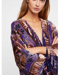 Free People   Worlds Apart Burnout Kimono   Lyst