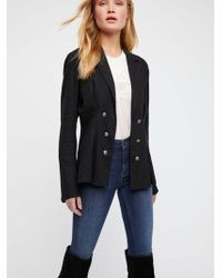 Free People - Clothes Jackets & Outerwear Blazers Cinched Waist Linen Blazer - Lyst