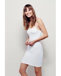 Free People - Seamless Low Back Mini Slip By Intimately - Chemise - Lyst