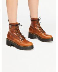 Free People - Dr. Martens Leona Platform Ankle Boot - Lyst
