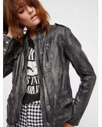 Free People - Rumpled Leather Blazer - Lyst