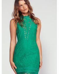 Free People - Cherie Bodycon Mini Dress - Lyst
