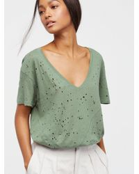 Free People - We The Free Destroyed Tee - Lyst