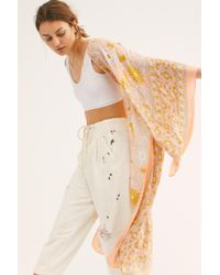 Free People - Magic Dance Border Print Kimono - Lyst