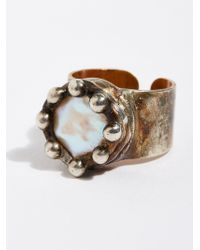 Free People - Pearl Monarch Ring - Lyst