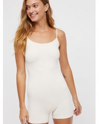13e61366d979 Lyst - Free People Seamless Low Back Romper in White