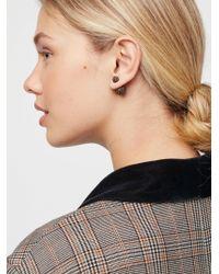 Free People - Double Sided Orbit Stud Earrings - Lyst