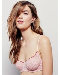 8279763a72 Free People Kiki Lace Halter Bra in Pink - Lyst
