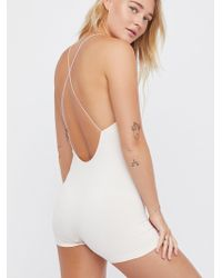 Free People - Low Back Seamless Romper - Lyst