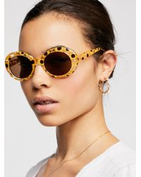 Free People - Pool Party Printed Sunglasses - Lyst