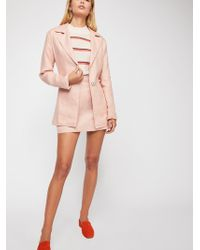 Free People - Power Play Linen Suit - Lyst