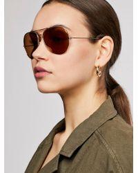 Free People - Austin Aviator Sunglasses - Lyst