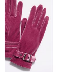 Free People - Ladies First Velvet Buckle Glove By Carolina Amato - Lyst