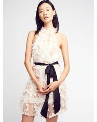 Free People - Ruffle Up Mini Dress - Lyst
