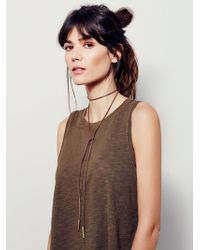 Free People - Flawed Leather Wrap Bolo - Lyst
