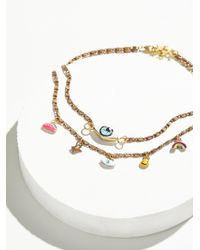 Free People - Hand Painted Charm Necklace - Lyst