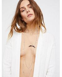 Free People - Lex Horn Layered Necklace - Lyst