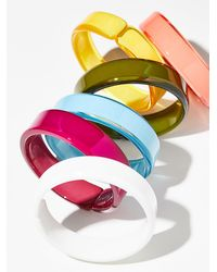 Free People - Lucite Color Bangle - Lyst