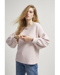 French Connection - Ellen Textured Balloon Sleeve Sweater - Lyst