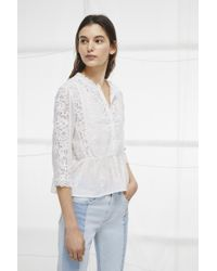 French Connection - Alimos Broderie Lace Top - Lyst