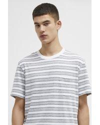 da968b02c6b French Connection - Short Sleeve Striped Crew Neck Cotton T-shirt - Lyst