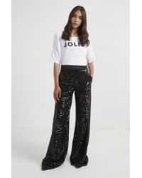 French Connection - Alodia Sequin Flared Trousers - Lyst