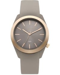 French Connection | Parker Classic Metal Plated Silicone Watch | Lyst