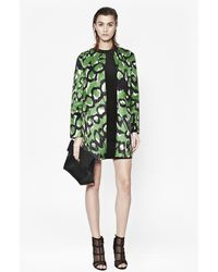 French Connection - Leopard Moth Collarless Coat - Lyst
