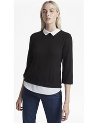 French Connection - Fresh Jersey Hem 3/4 Sleeve Top - Lyst