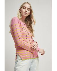 French Connection - Lattice Knit Crew Neck Jumper - Lyst