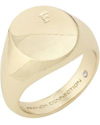 French Connection - Signet Ring - Lyst