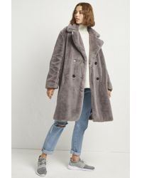 French Connection - Annie Faux Shearling Coat - Lyst