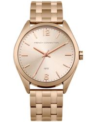 French Connection - Rose Gold Steel Bracelet Watch - Lyst