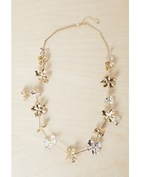 French Connection - Metal Petals Necklace - Lyst