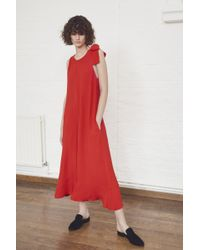 French Connection - Hiva Crepe Flared Jumpsuit - Lyst