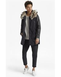 French Connection - Snow Rhumba Faux Fur Hooded Coat - Lyst